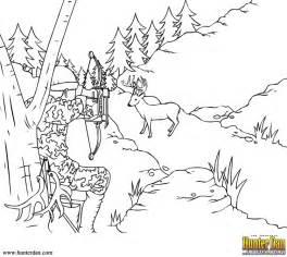 Hunterdancom Archer Aiming At A Deer sketch template