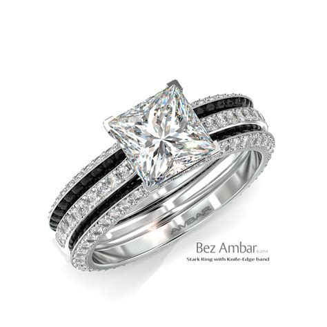 wedding bands enhancers white gold wedding ring set with b w enhancers stark