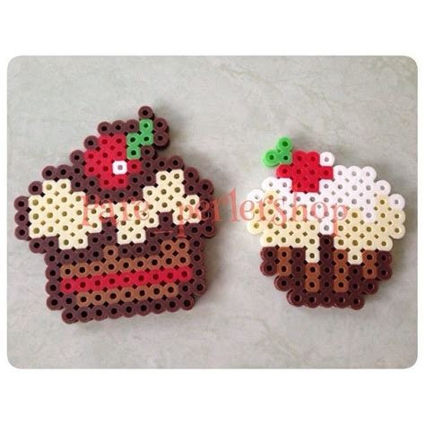 cupcake perler 71 best images about pyssla on perler bead