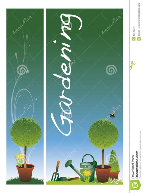 Garden Banners From by Garden Banners Stock Illustration Image Of Botany