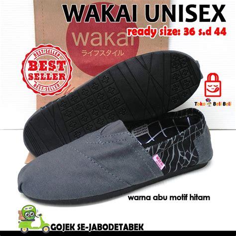 Sepatu Wakai Slip On Pria Japan5 jual sepatu wakai murah abu motif hitam wakai murah