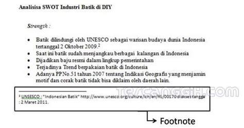 cara membuat catatan kaki dalam bahasa indonesia kutipan dan catatan kaki techno spot