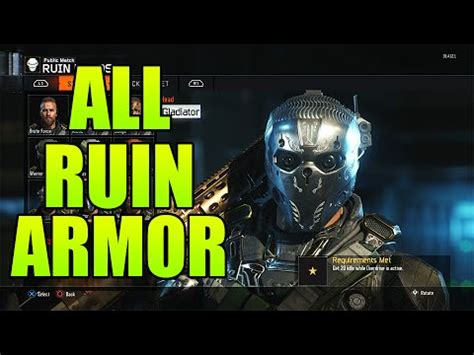 Bo Set Black 1 black ops 3 all completed quot ruin quot gear sets bo3 all