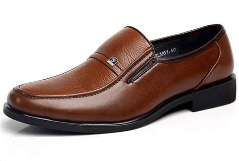 mens brown oxford shoes genuine leather work business