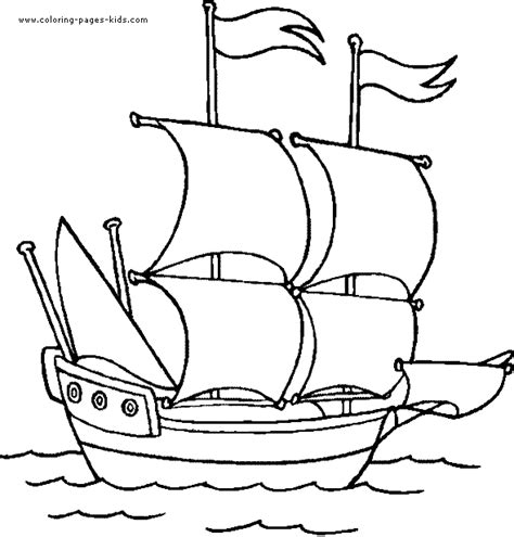 coloring book pages boats ship coloring page