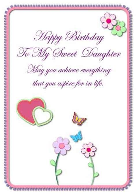 printable birthday cards granddaughter daughter birthday cards my free printable cards com