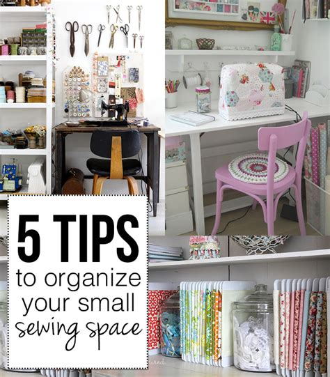 Organizing Your Space | 5 tips to organize your small sewing space andrea s notebook