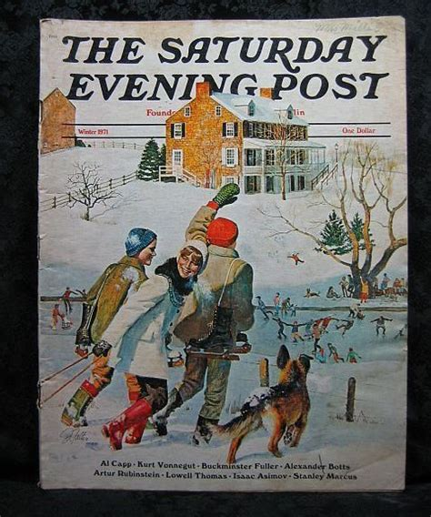 the evenings a winter s tale books saturday evening post winter 1971 falter cover