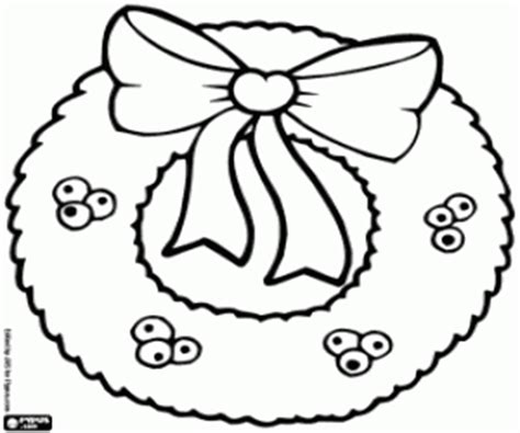 Decorations For Christmas Coloring Pages Printable Games Free Printable Coloring Wreath Pages