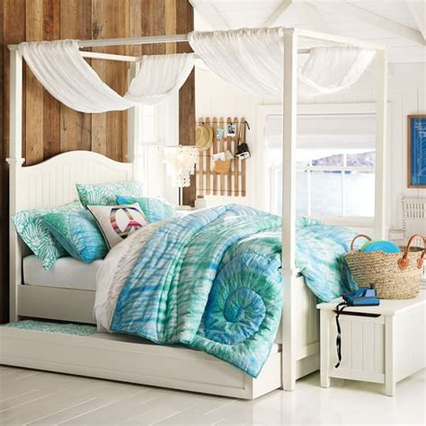 canopy bedding sets beadboard canopy bed set pbteen