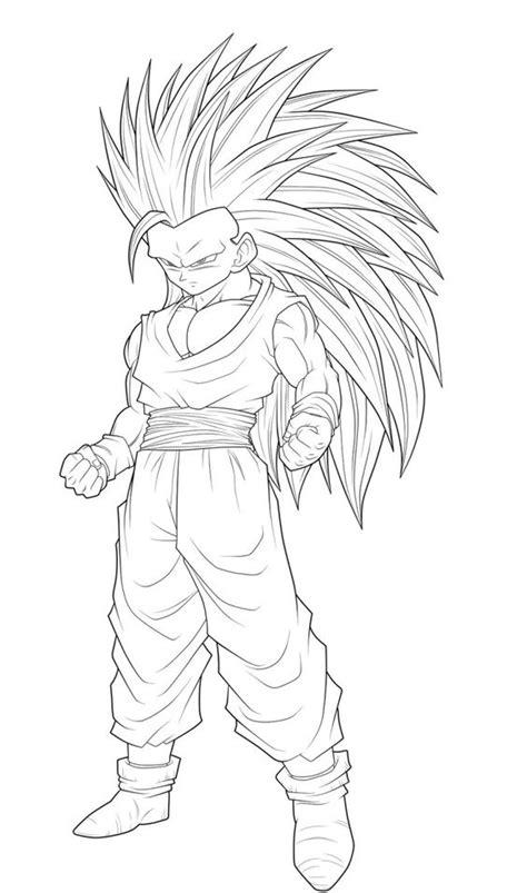 Dragon Ball Goku Super Saiyan 3 Coloring Pages Coloring Goku Saiyan 3 Coloring Pages