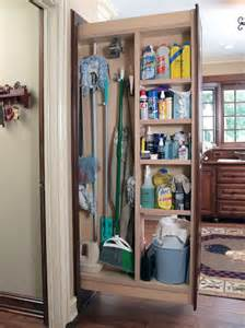 Tall Narrow Corner Cabinet Broom Closet Cabinet Smart And Practical Solution To