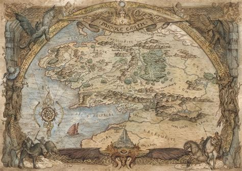 lord of the rings maps lord of the rings middle earth map an print by