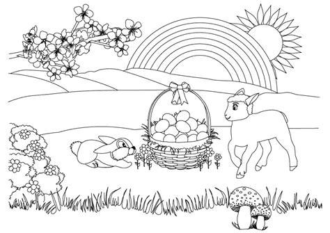 primavera sptring 4 disegni da colorare per adulti e ragazzi