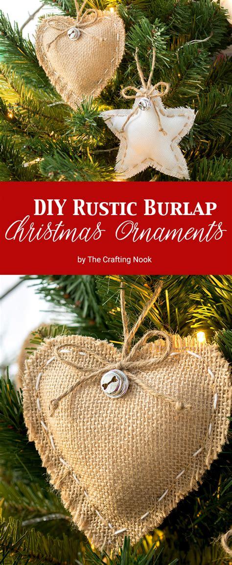 diy rustic burlap christmas ornaments  video tutorial