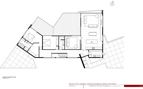 Modern House Floor Plans With Pictures upper floor plan redcliffs house christchurch new