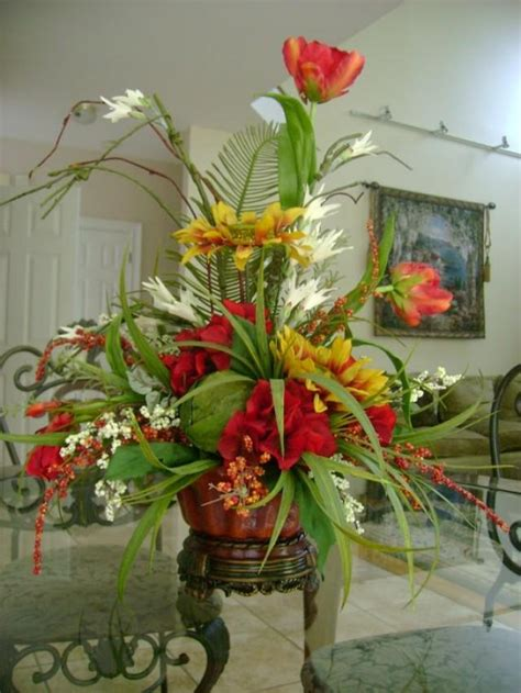 Silk Flower Arrangements For Dining Room Table by Silk Dresses Silk Floral Arrangements 2047383 Weddbook