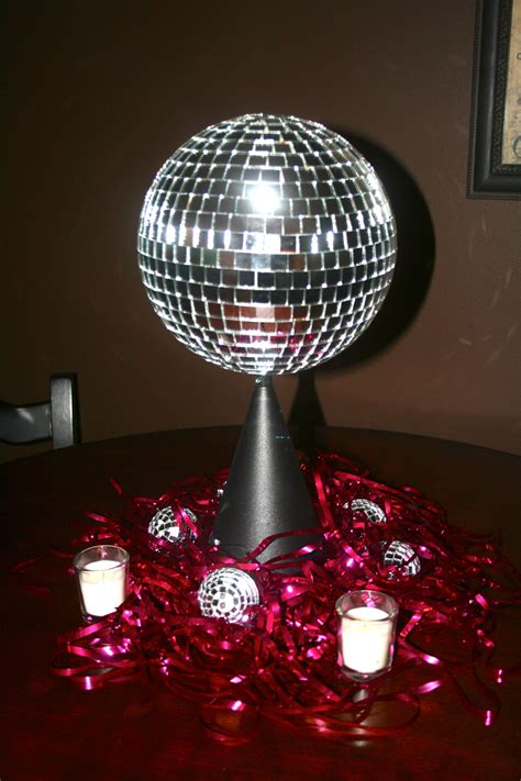 disco centerpiece ideas rotating disco centerpieces by the