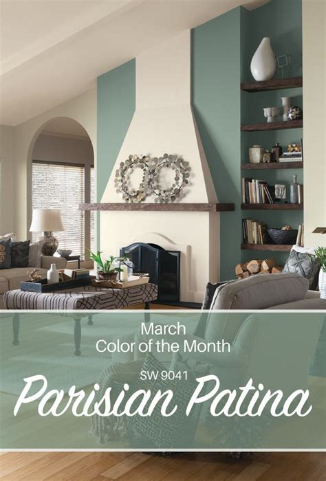 sherwin williams march color of of the month parisian patina sw 9041 a year in paint color
