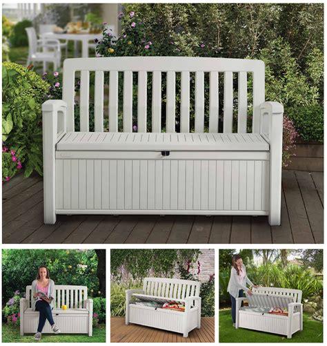 keter garden storage bench patio storage bench keter outdoor seat garden chair box