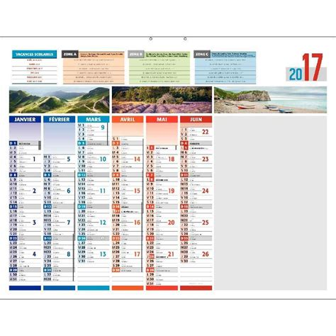 Calendrier Effacable Calendrier 6 Mois Par 4 Saisons Effa 231 Able 43x55