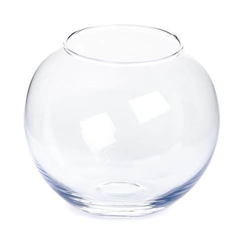 wilko glass fish bowl vase clear wilko