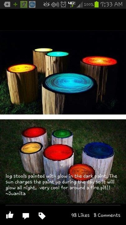 glow in the painted logs make glow in the paint creative things logs and glow