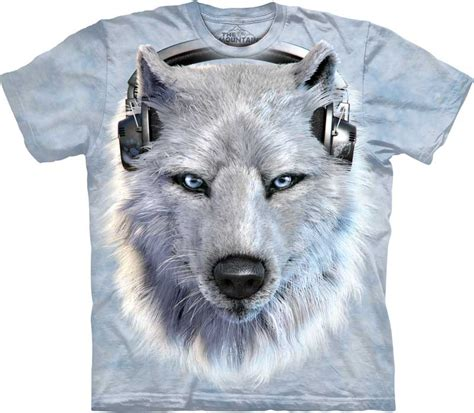 Tshirt Woles Grey white wolf shirt tees and apparel made with usa cotton