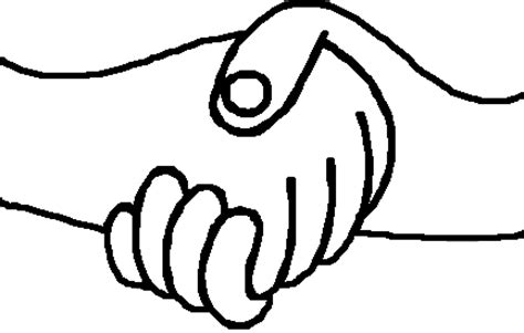 coloring page of shaking hands shake hashake hands colouring pages