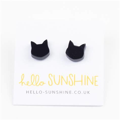 Black Cat Earring black cat earrings by hello at the door