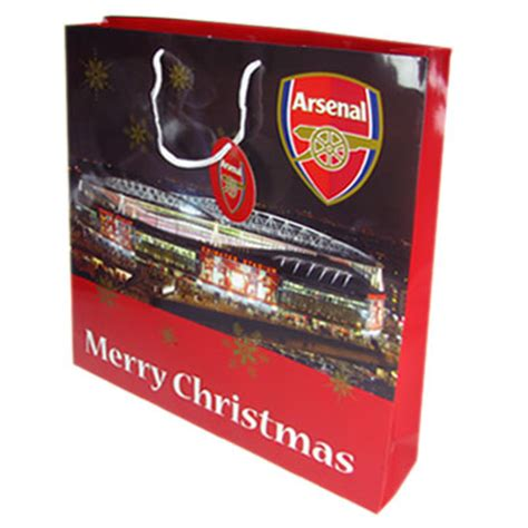 official football football arsenal f c christmas gift bag