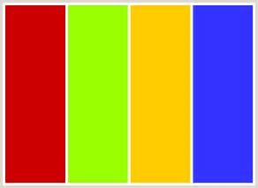Colors That Go With Yellow Colorcombo15 With Hex Colors Cc0000 99ff00 Ffcc00 3333ff