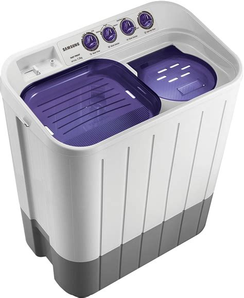 Samsung Washing Machine Decorated In Gold Washes Clothes by Shop Samsung Wt725qpndmp Xtl 7 2 Kg Semi Automatic