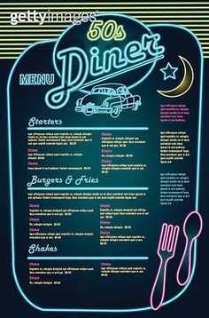 50s diner menu template 50 s diner menu templates free search 30ste clip