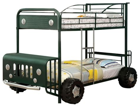 jeep bunk bed jeep design green finish metal construction