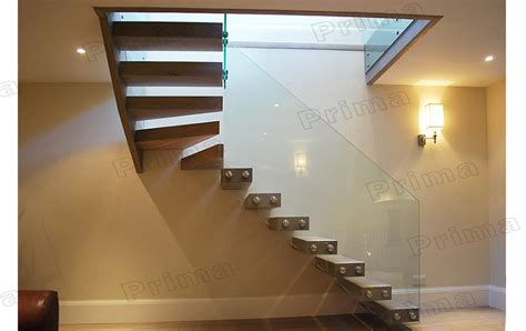 glass banister kits interior glass railing wood stair kit cantilever stairs