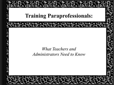 ppt paraprofessionals what teachers and administrators need to powerpoint