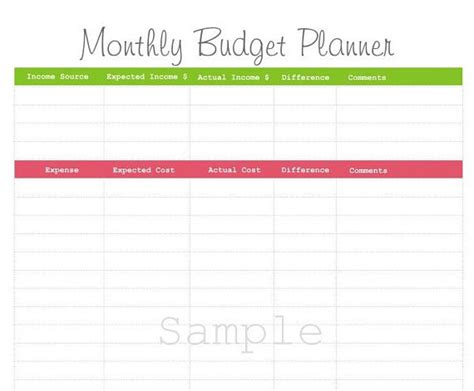budget planner printable worksheet free uk free printable monthly budget template new calendar