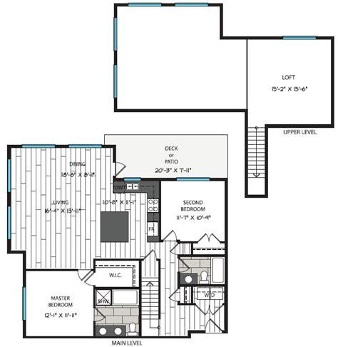 two bedroom house plans with loft corner two bedroom loft plan i loft waterstone