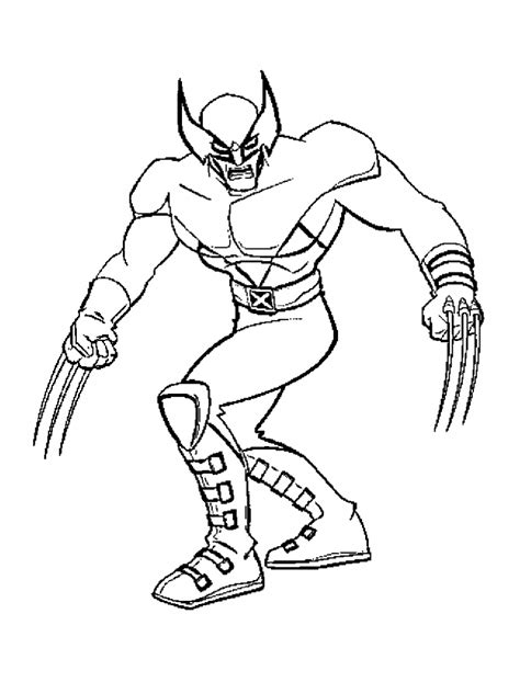 coloring page xmen free printable x coloring pages for