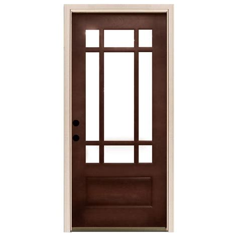15 Light Exterior Door Steves Sons 30 In X 80 In 15 Lite Clear Glass Unfinished Fir Wood Front Door Slab Firffc3080