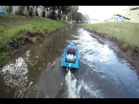 rc jet boats youtube rc jet boat in rain water1 youtube
