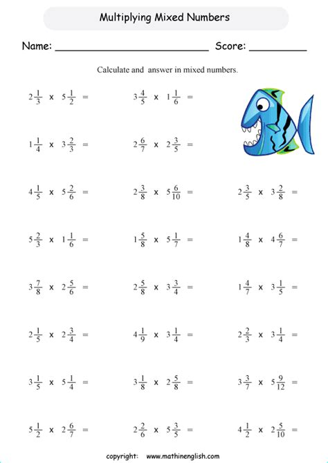 Multiplying Mixed Numbers Worksheet by Multiply Mixed Numbers By Fractions And Give Your Answer