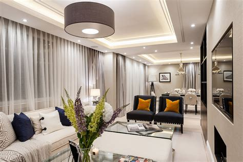 High Dining Room Tables contemporary apartment interiors in london