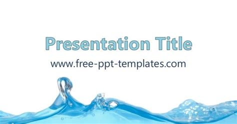 Water Ppt Template How To Powerpoint Templates For Free