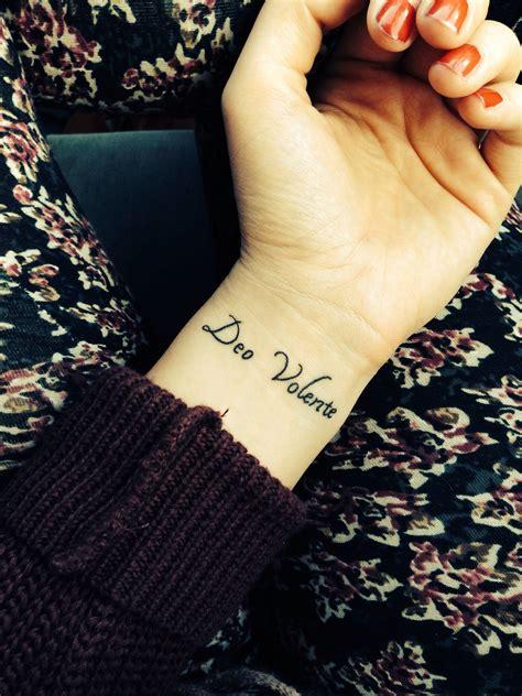 latin wrist tattoos deo volente quot god willing quot in 12 26 13 wrist