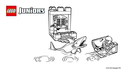 lego junior coloring pages lego juniors pirates shark coloring pages printable