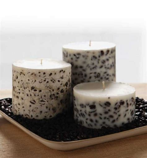 Candle Pillars Soy Pillar Candle How To Make A Candle Embedded Soy Pillar Candle