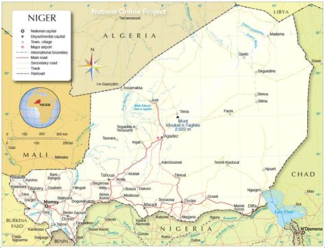 political map of niger political map of niger nations project
