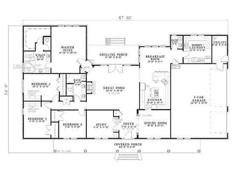 house plans country 8077 3 bedrooms and 2